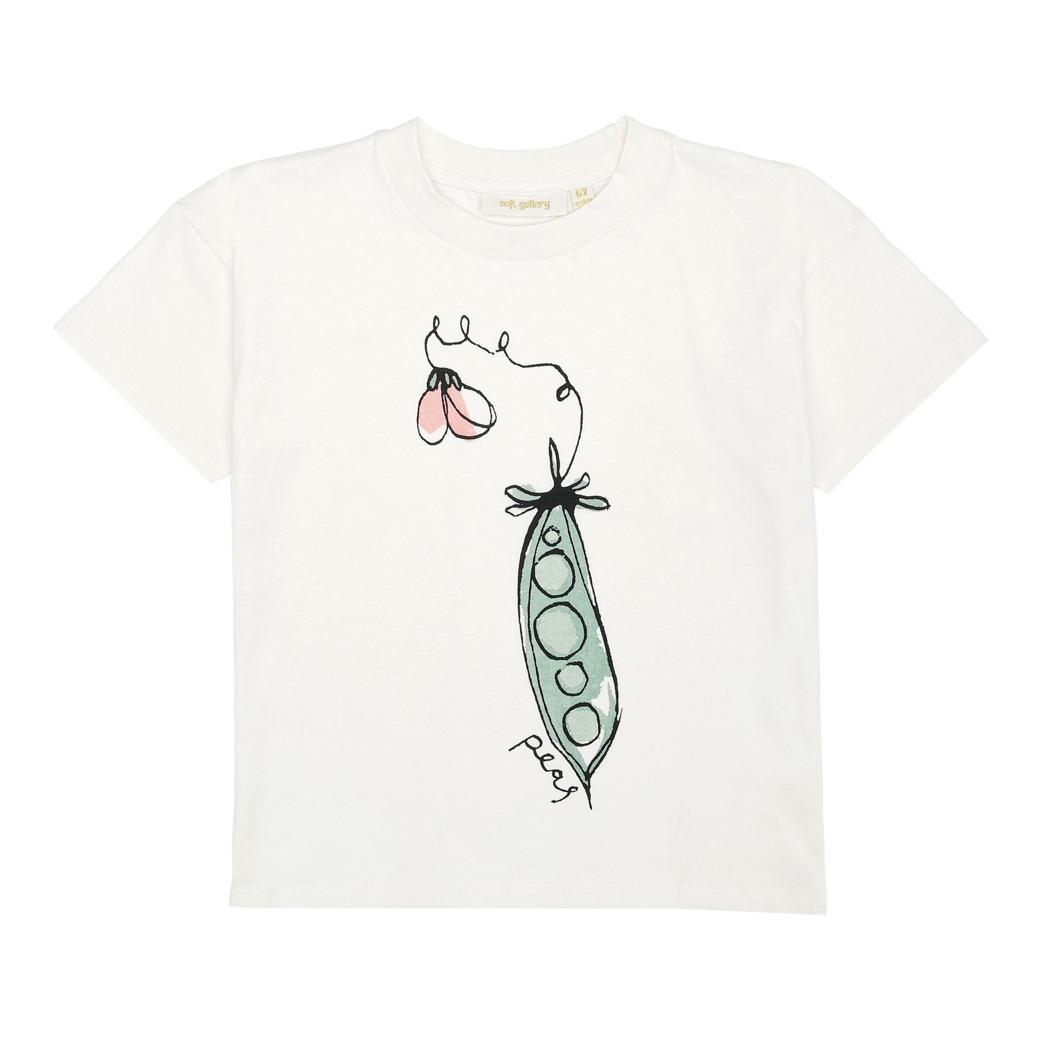 Dharma T-shirt - Gardenia / Peas-1