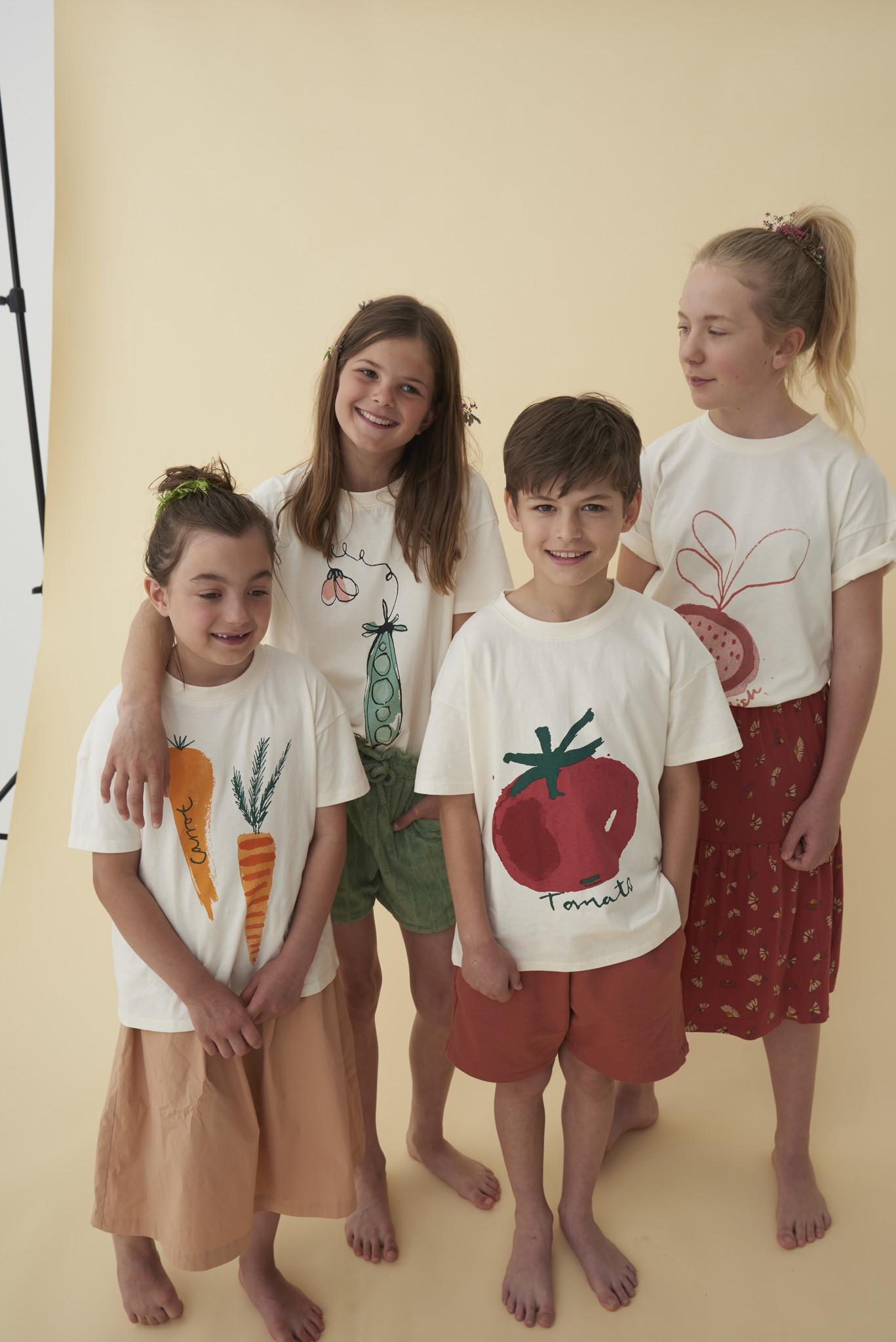 Dharma T-shirt - Gardenia / Peas-2