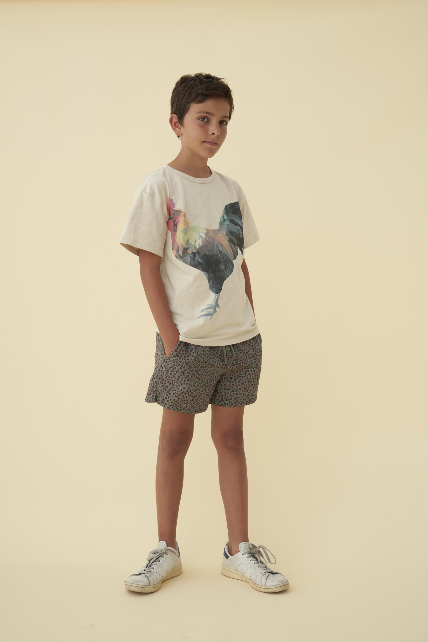Asger T-shirt - Oyster Gray / Hancock-2