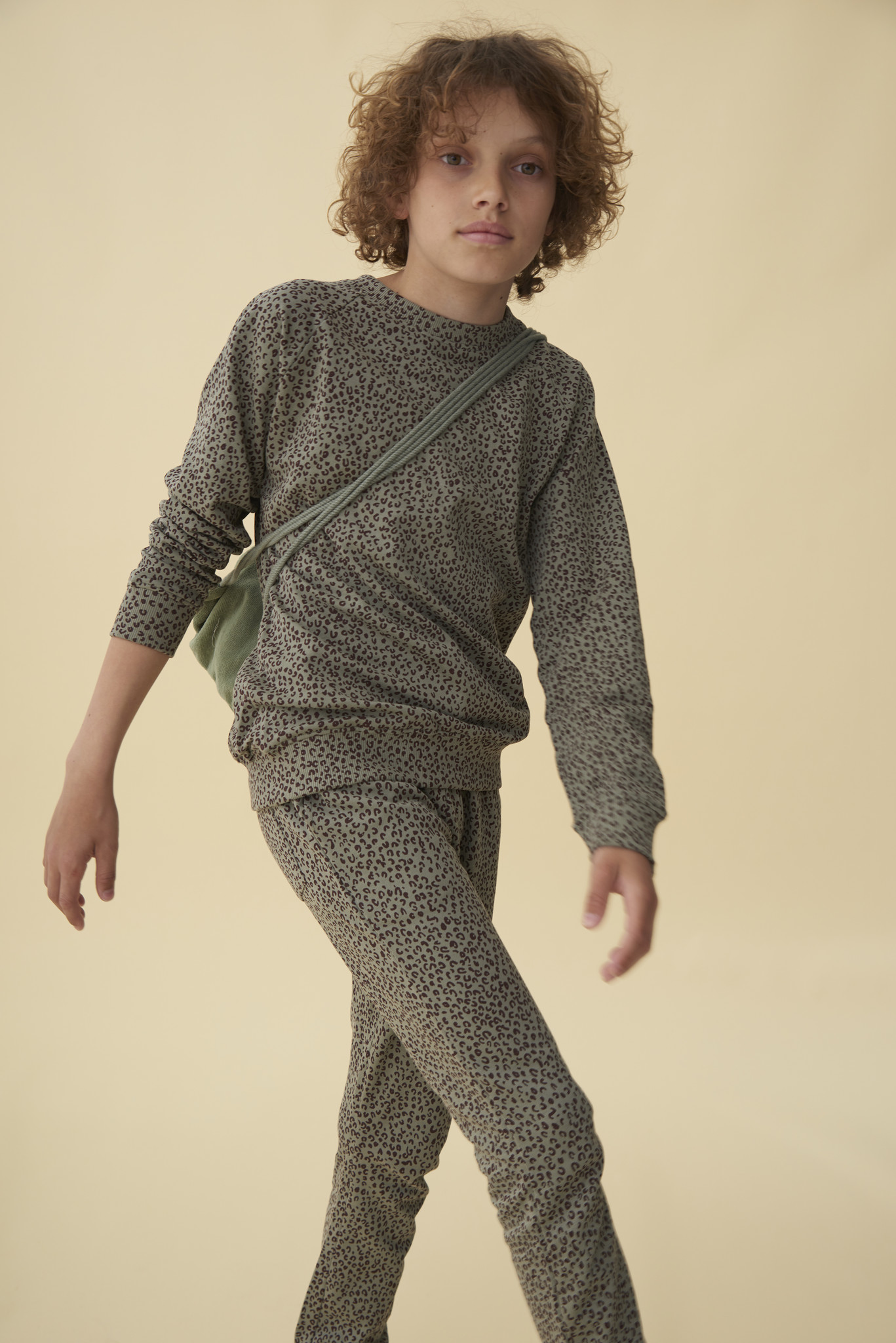 Chaz sweatshirt - Shadow / AOP Leospot-2
