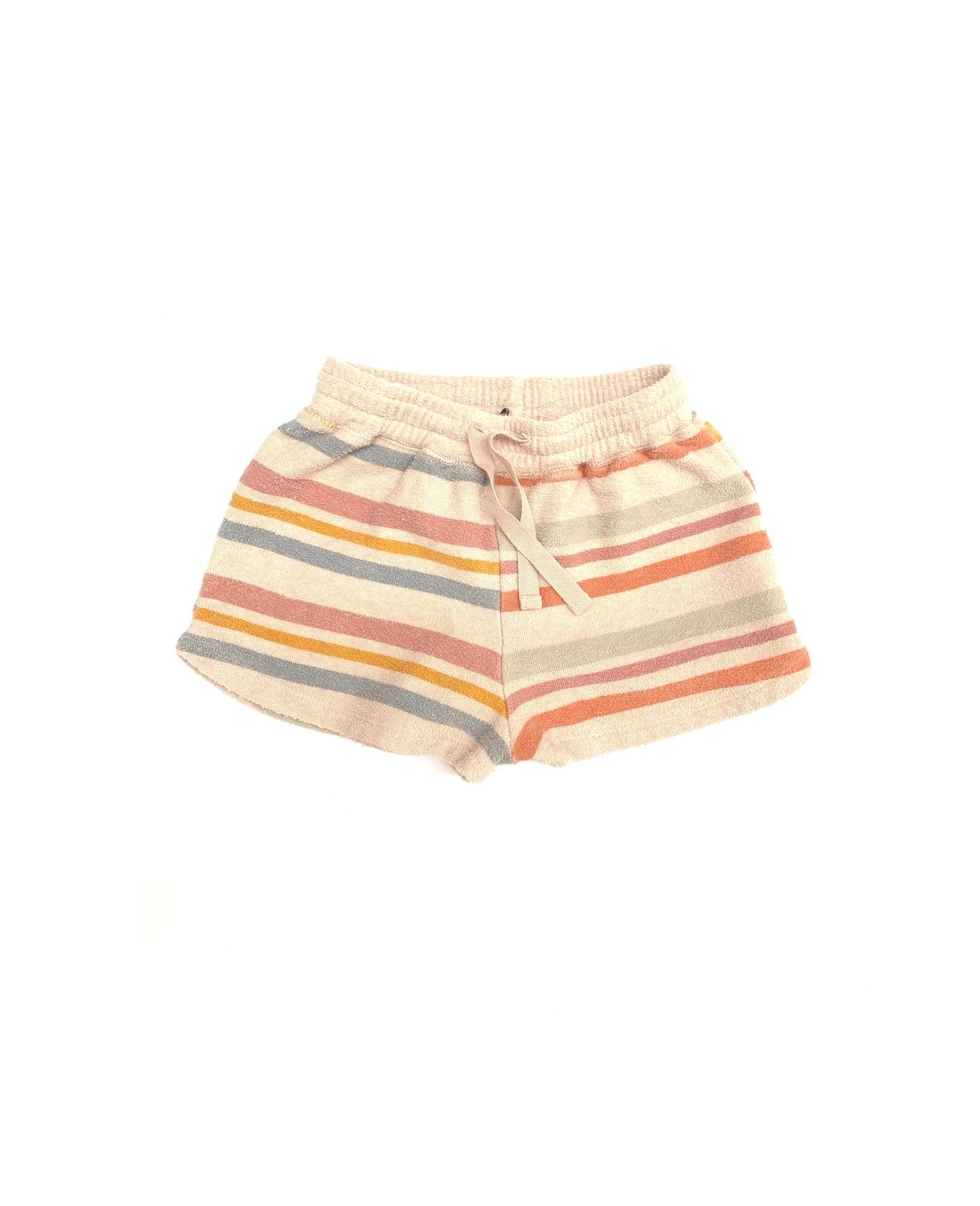 Terry shorts - Stripe-1