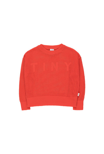 TINY CROP SWEATER - Red