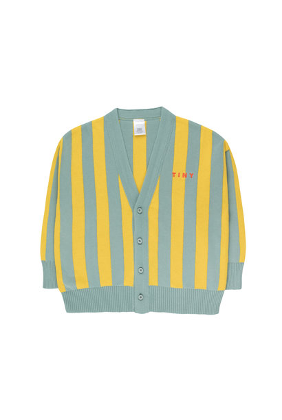 STRIPES CARDIGAN - Sea Green / Yellow