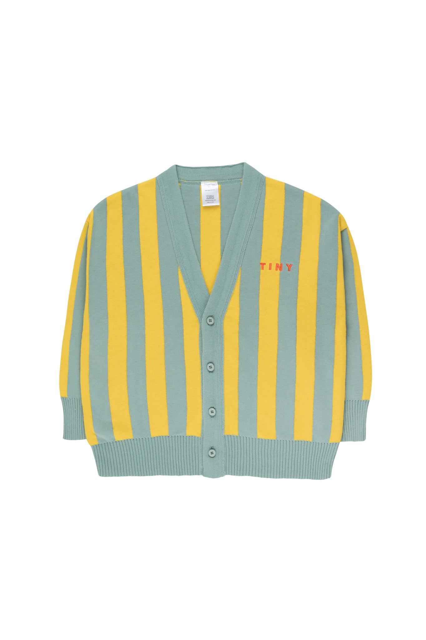 STRIPES CARDIGAN - Sea Green / Yellow-1
