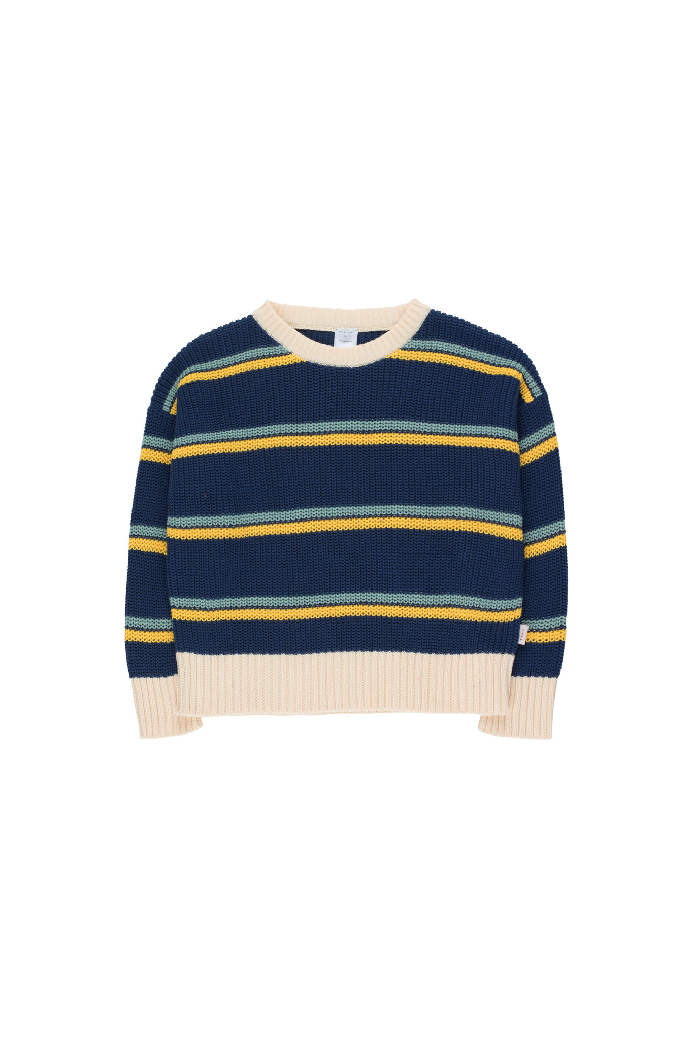 STRIPES SWEATER - Light Navy / Yellow / Sea Green-1