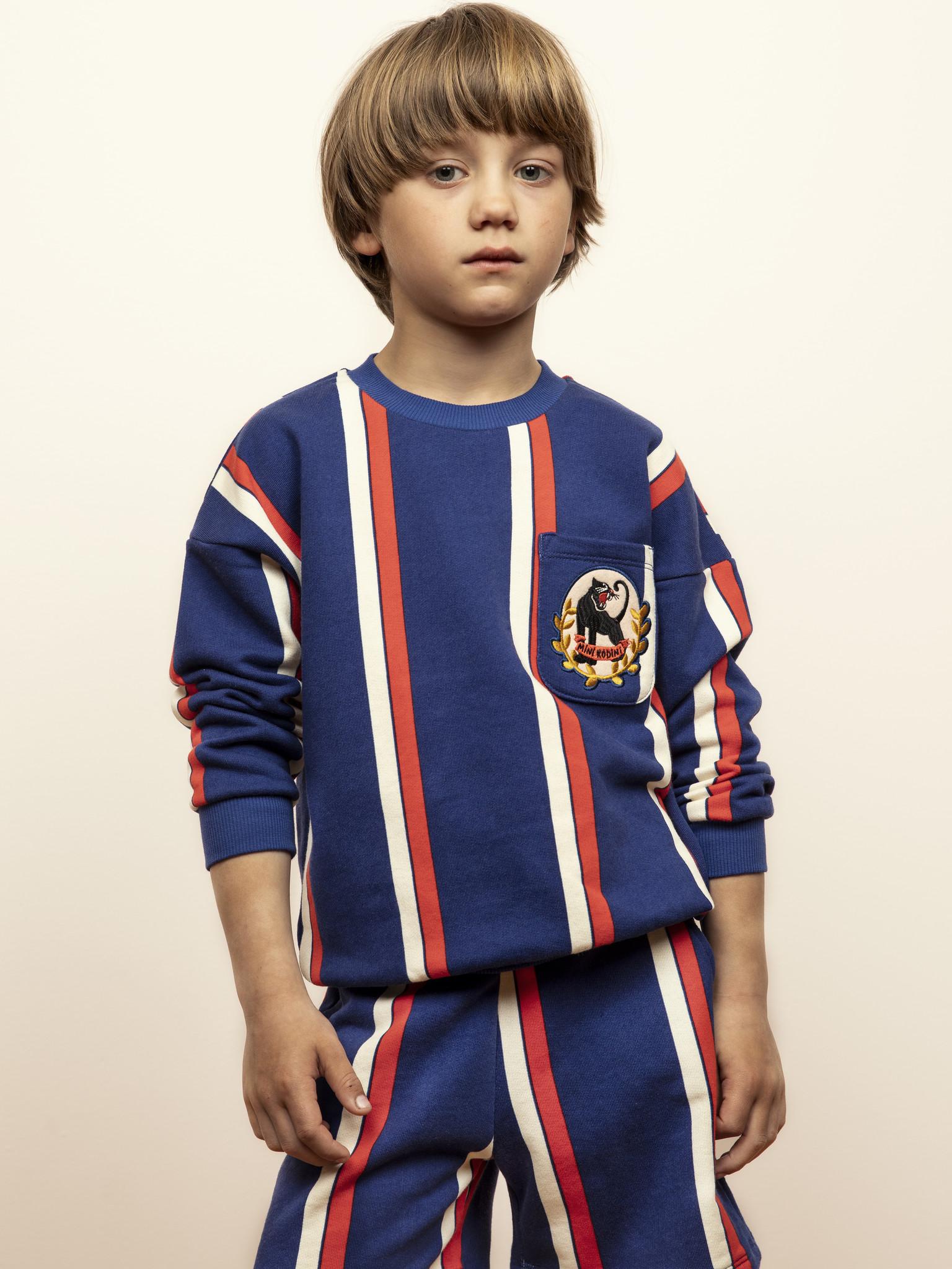 Stripe sweatshirt - Blue-2