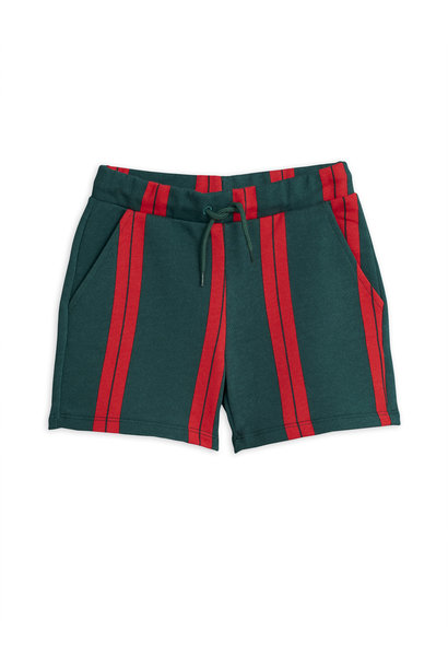 Stripe sweatshorts - Green