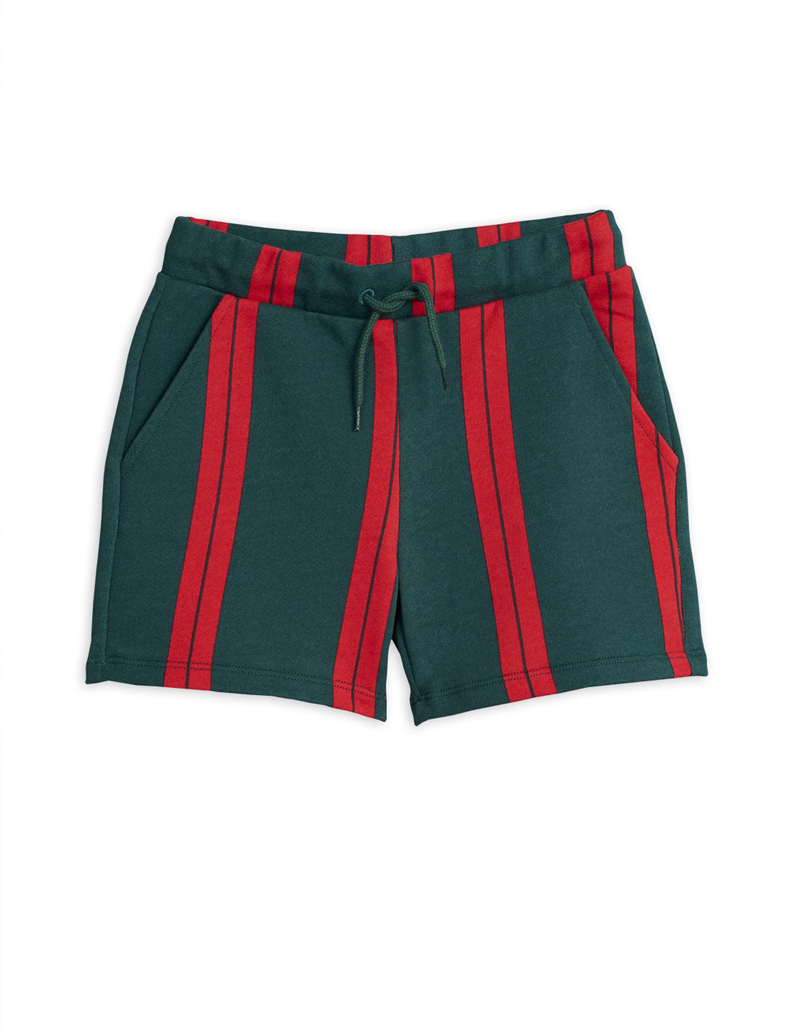 Stripe sweatshorts - Green-1