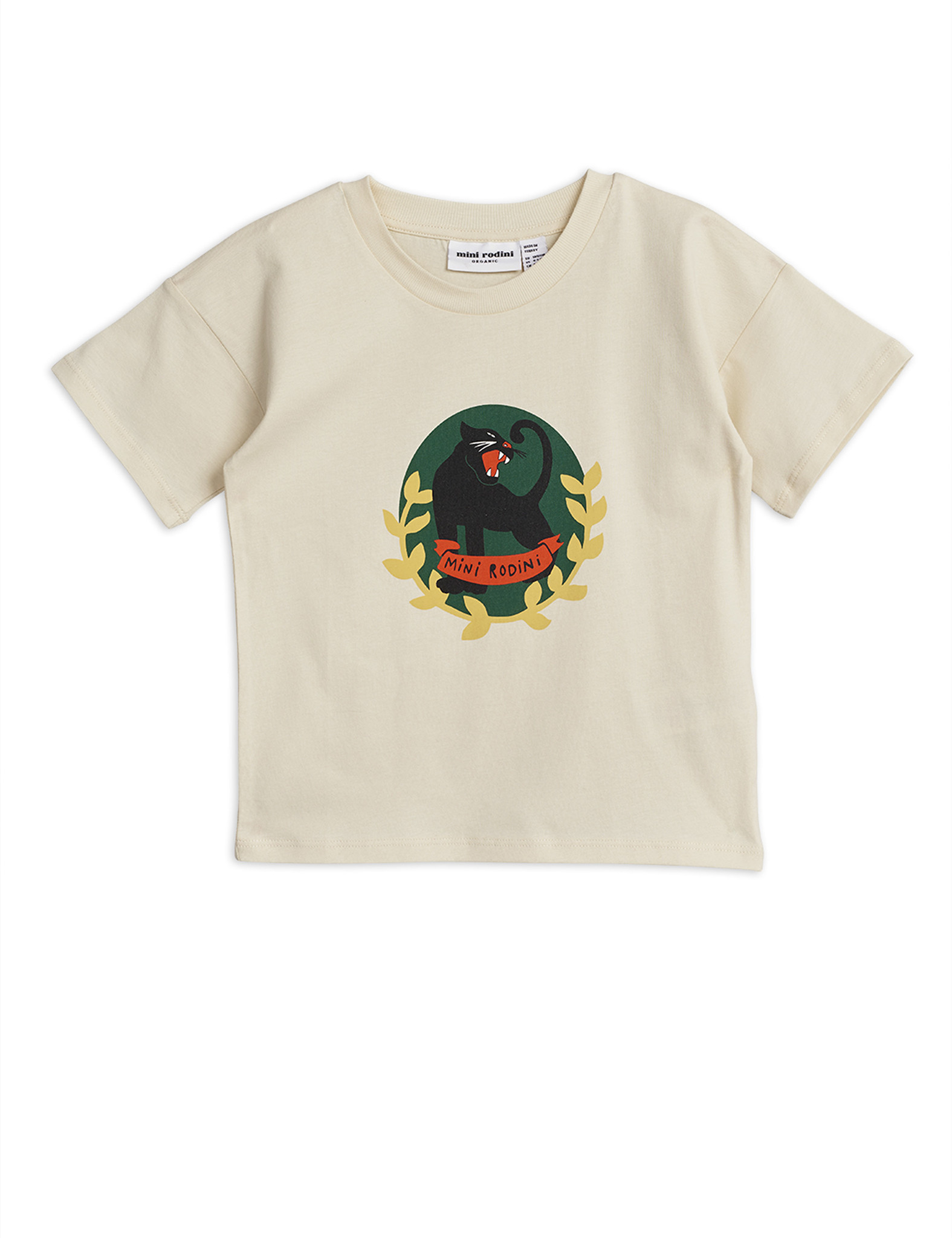 Panther badge ss tee - Offwhite-1