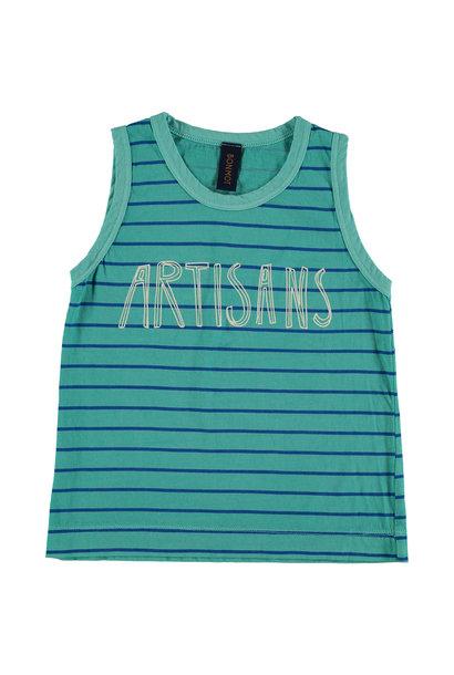 Tank top t-shirt Artisans - Turquoise