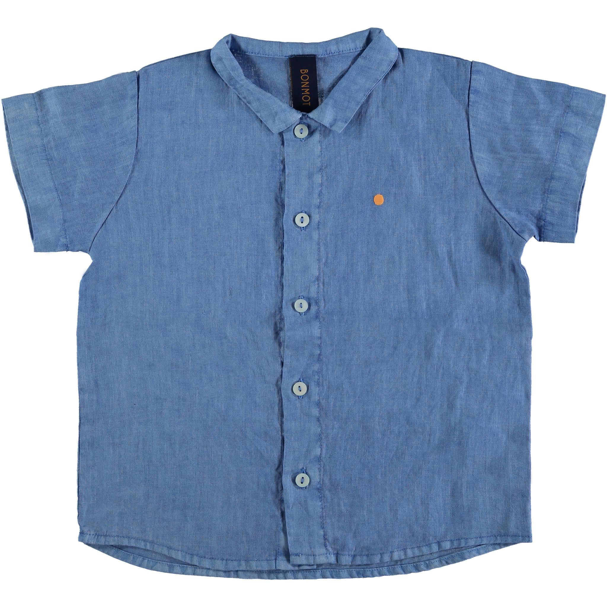 Shirt buttons dot - Fresh Blue-1