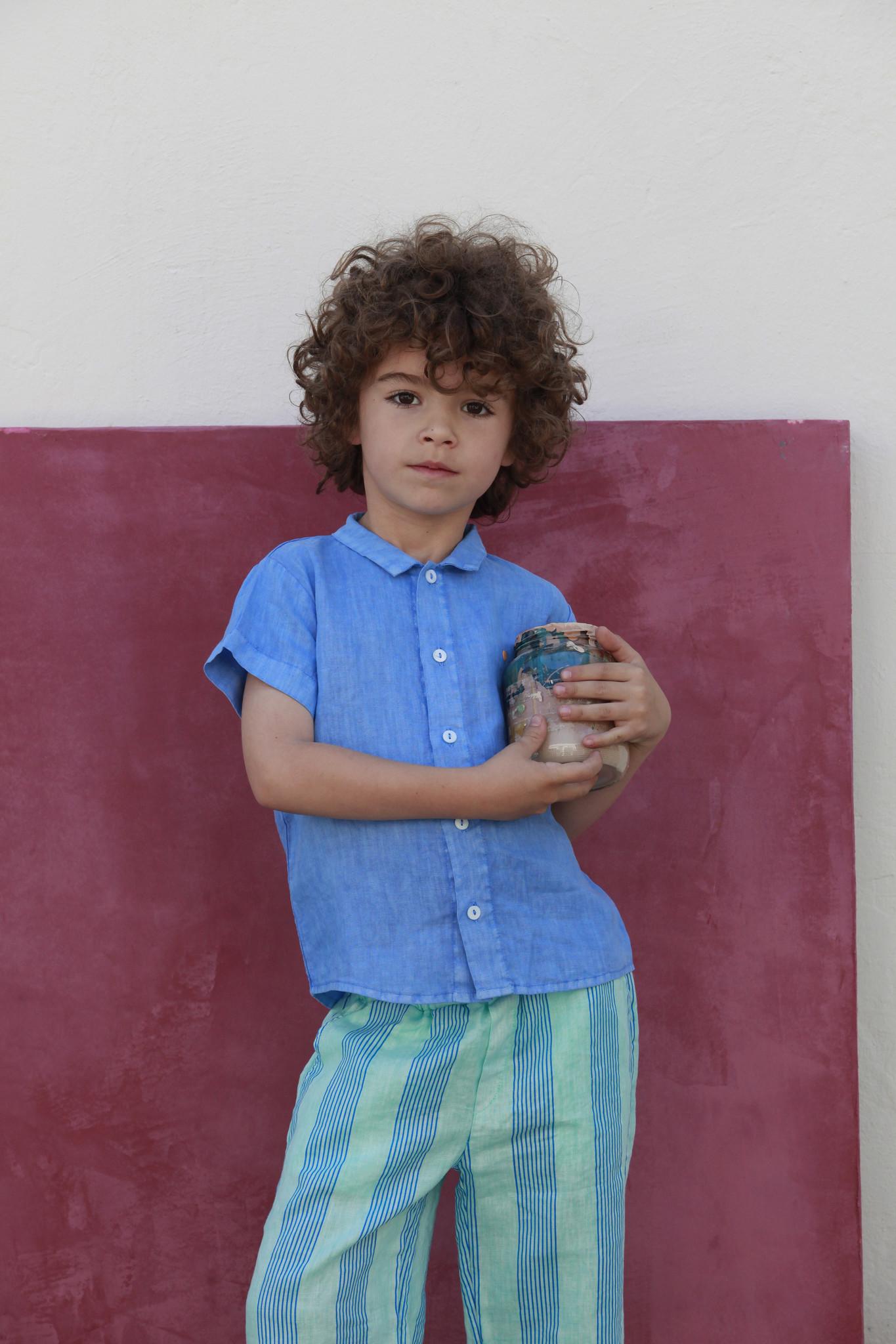 Shirt buttons dot - Fresh Blue-2