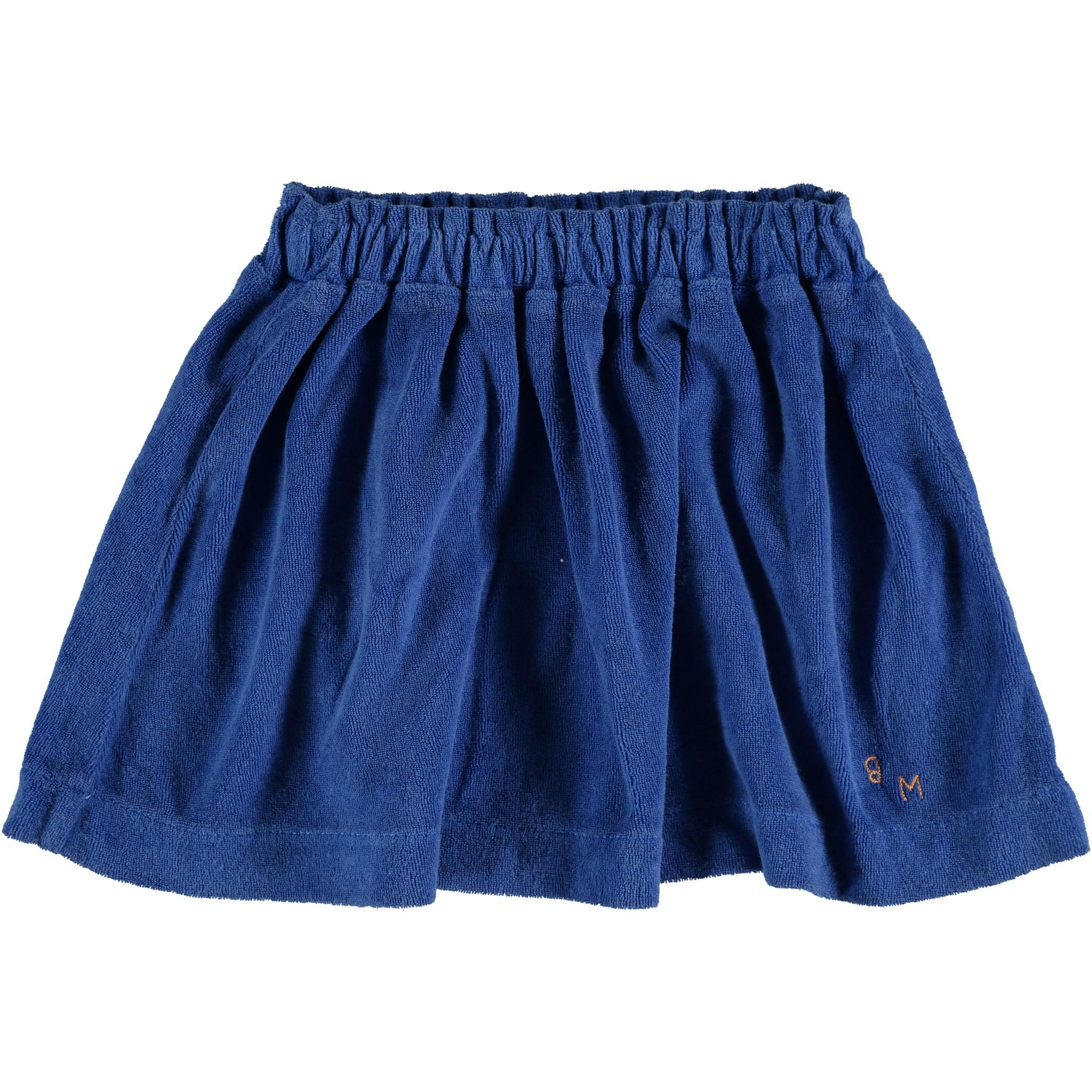 Mini skirt terry bm - Fresh Blue-1