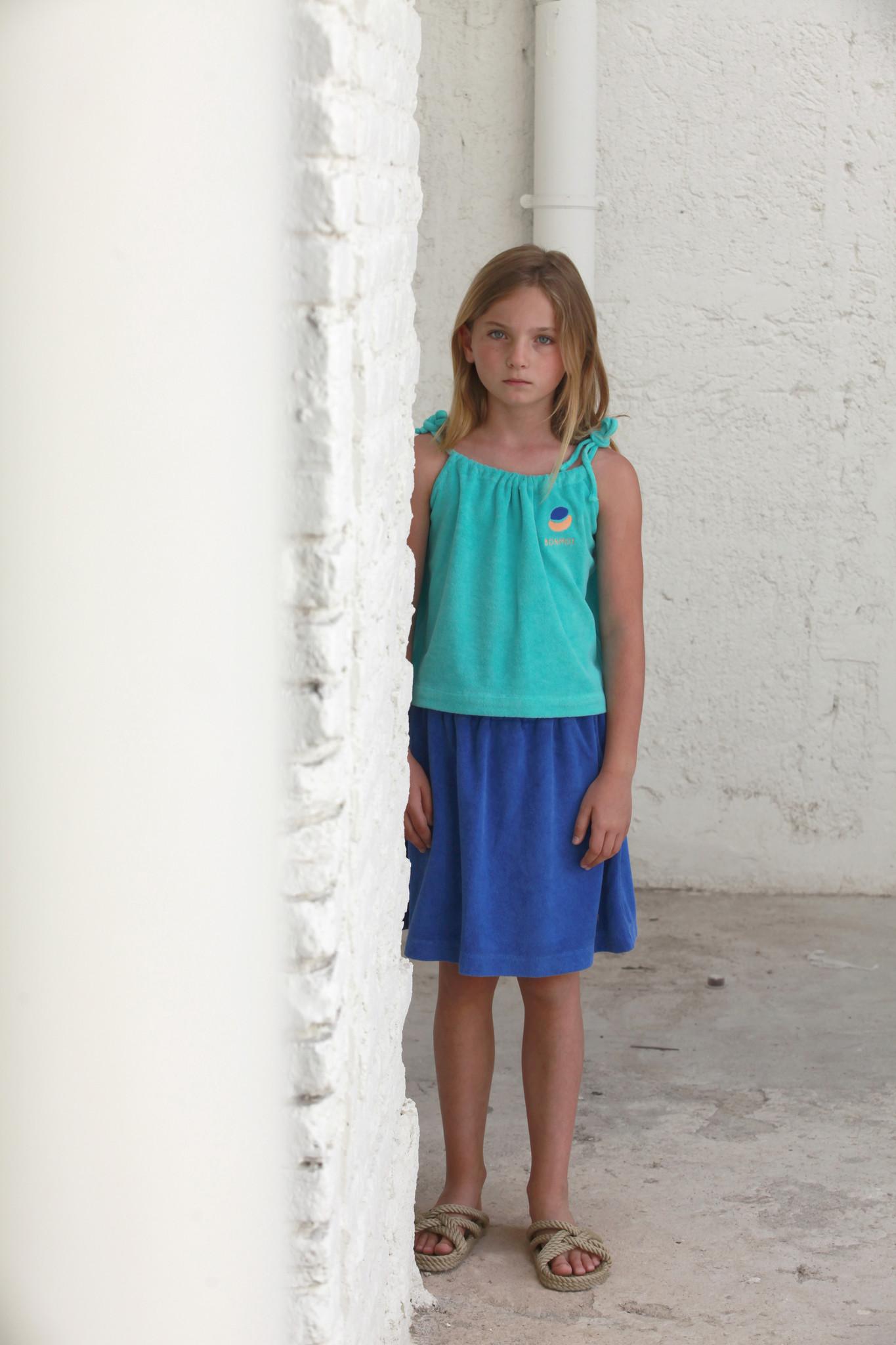 Mini skirt terry bm - Fresh Blue-2