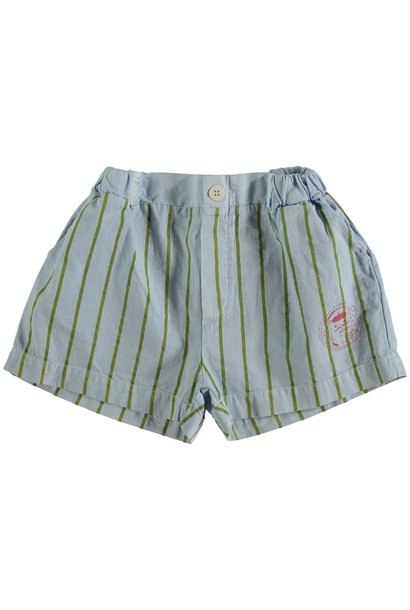 Short button thin stripes - Light Blue