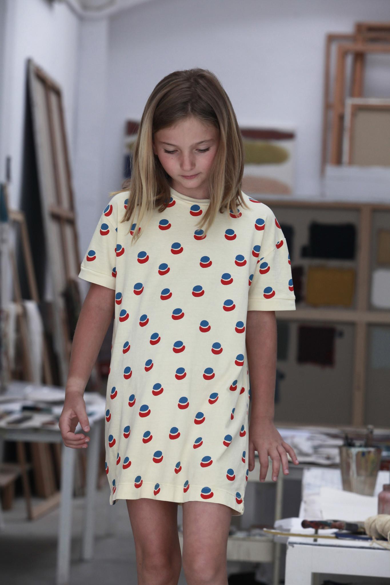 T-shirt dress paint all over - Mellow Yellow-2