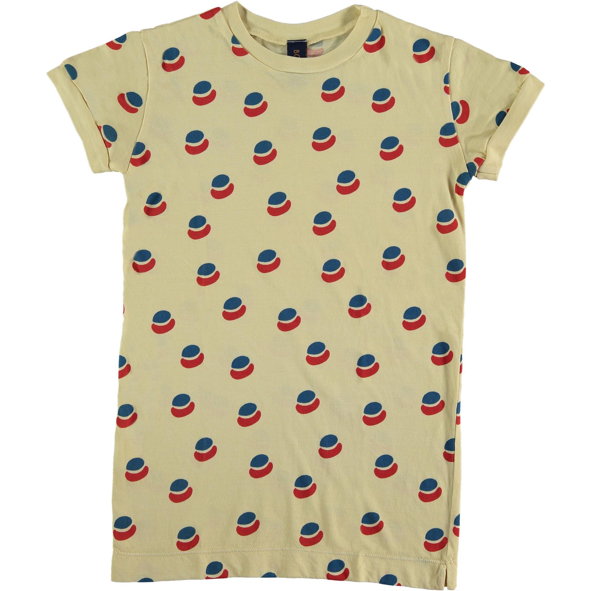 T-shirt dress paint all over - Mellow Yellow-1