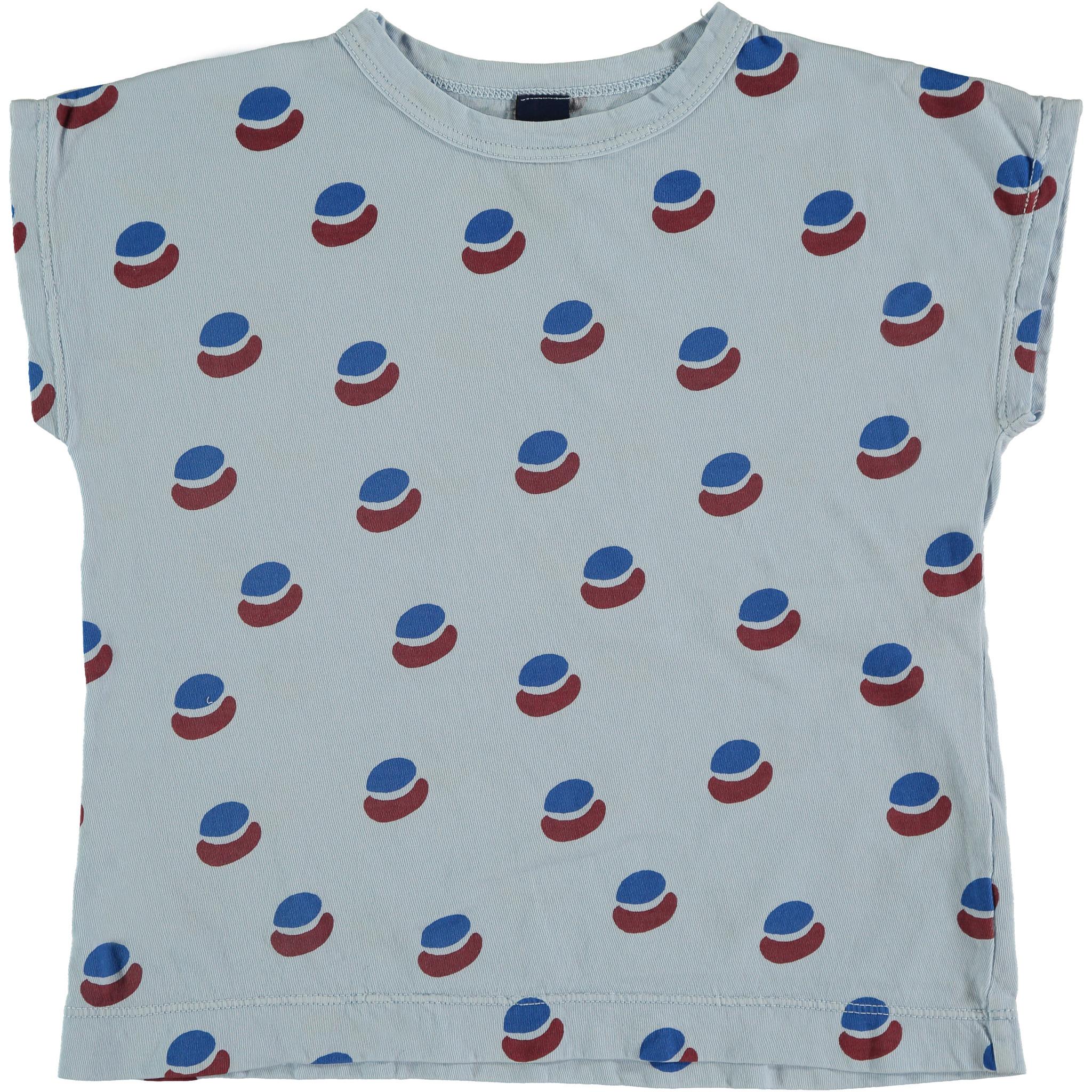 T-shirt summer paint all over - Light Blue-1