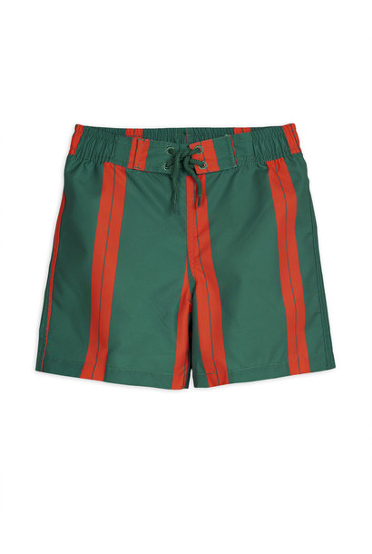 Stripe swimshorts - Green