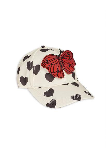 Hearts cap - White