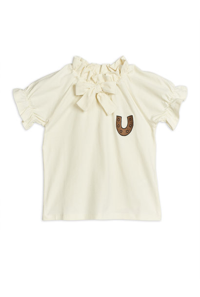 Horseshoe jersey blouse - Offwhite