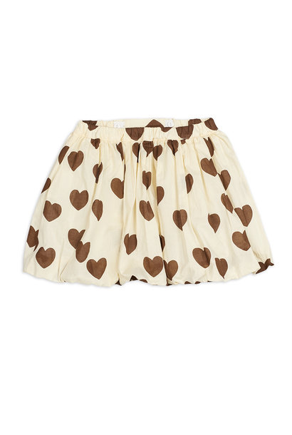 Hearts woven balloon skirt - Offwhite
