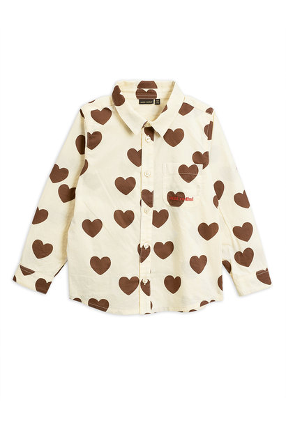 Hearts woven shirt - Offwhite