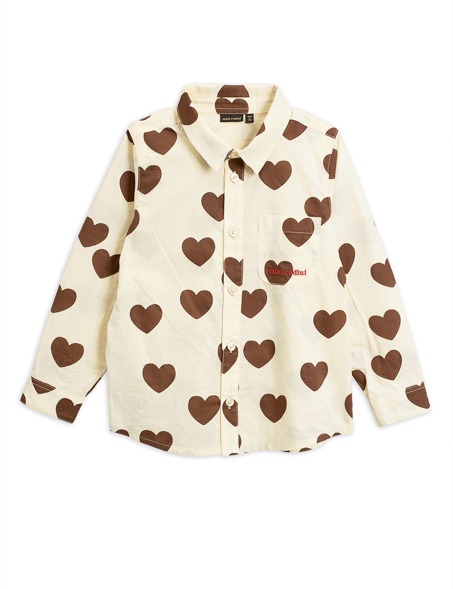 Hearts woven shirt - Offwhite-1