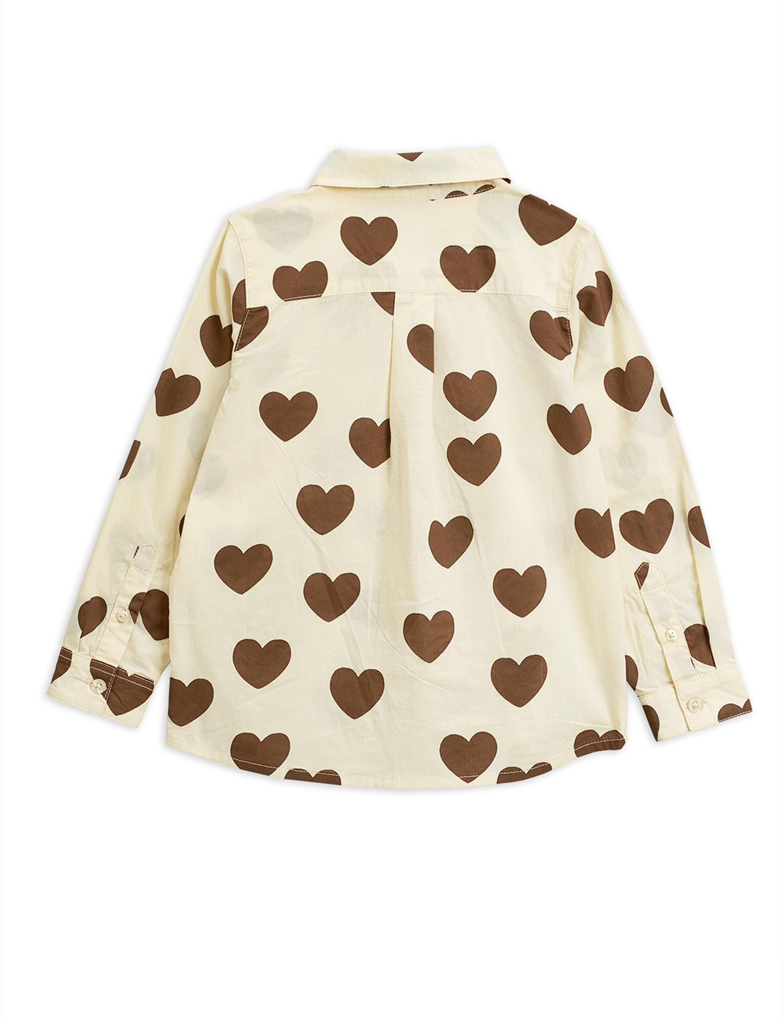 Hearts woven shirt - Offwhite-3