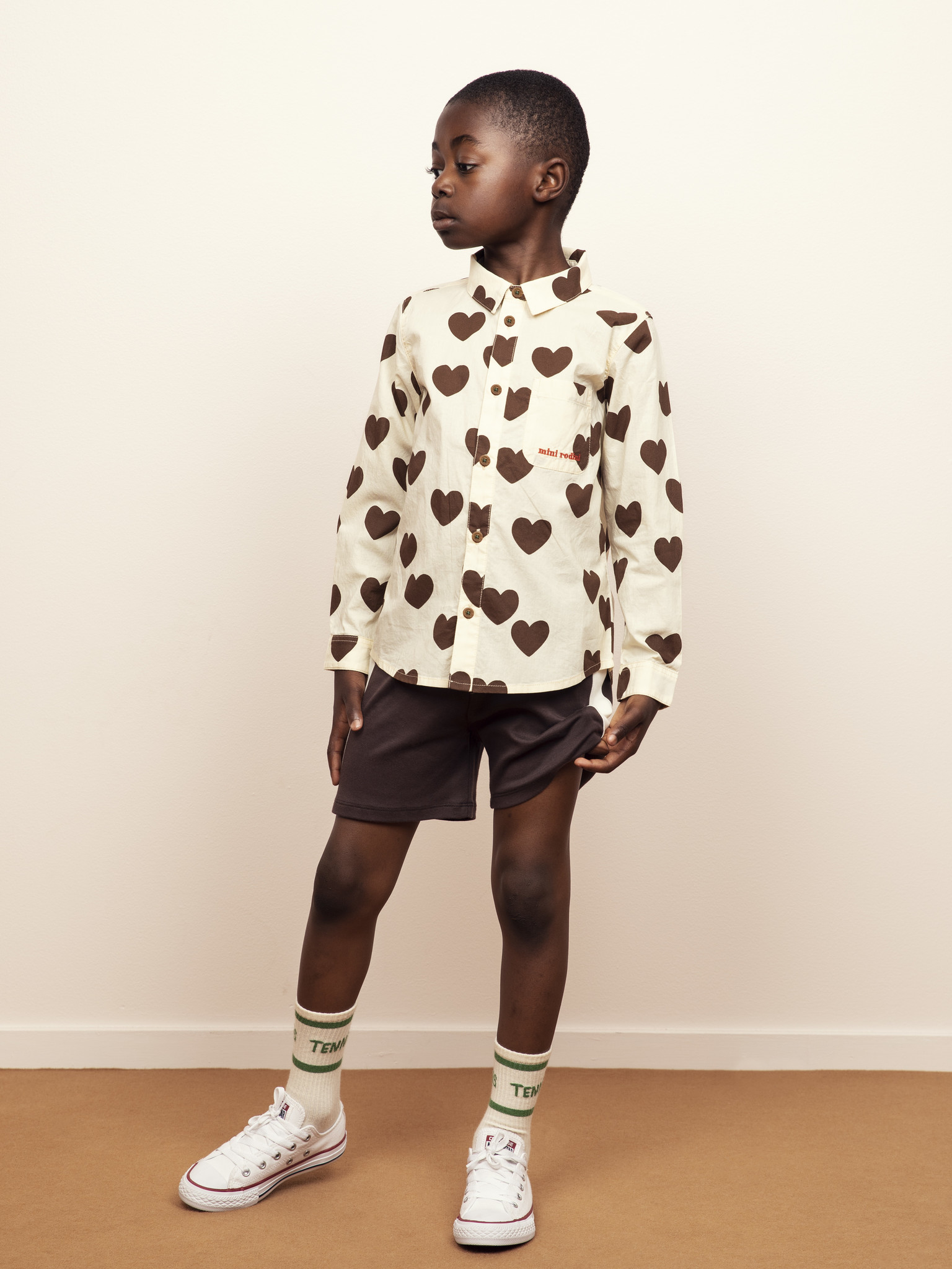 Hearts woven shirt - Offwhite-2