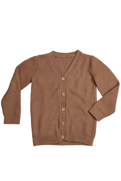 Knitted cardigan - Smoked Hazelnut