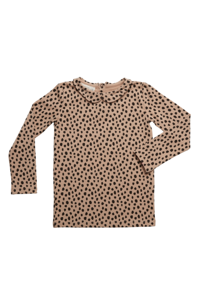 Shirt l/sl Peterpan Animal Dot - Warm Sand