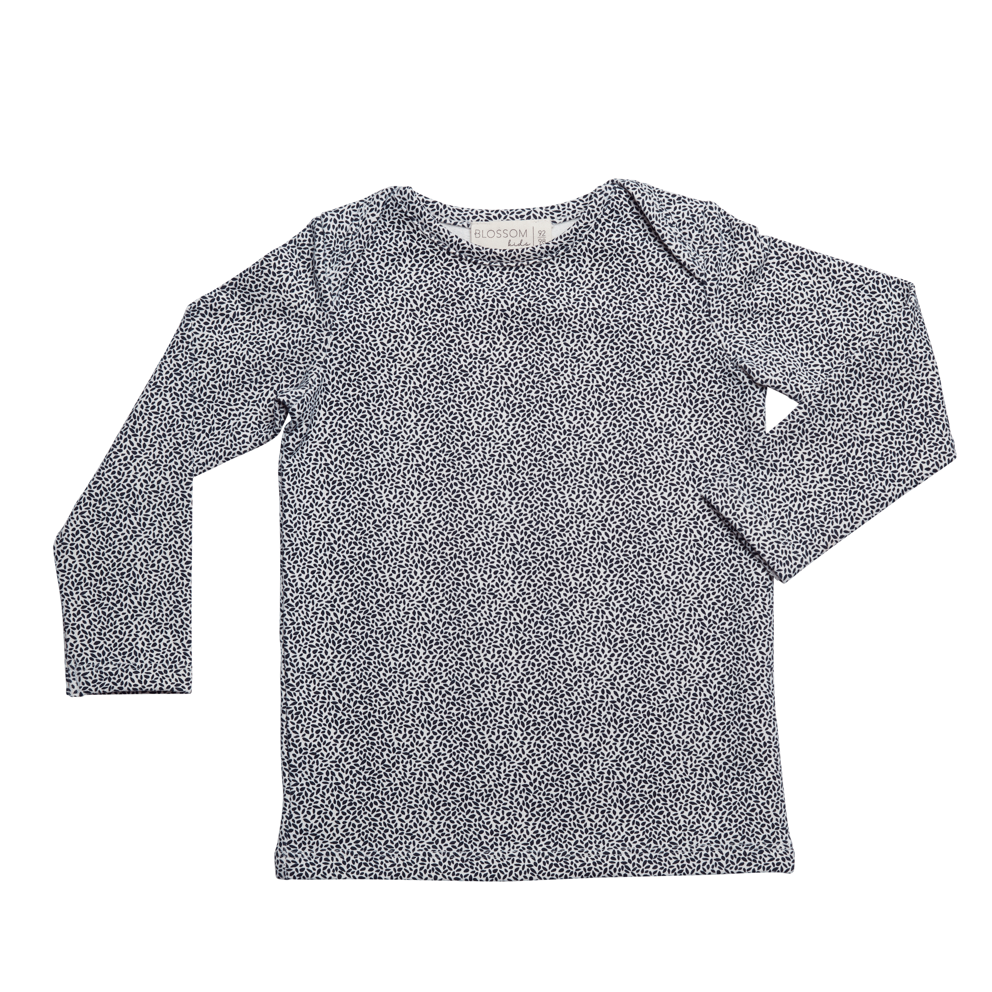 Shirt l/sl Dotted Leaves - Midnight Blue-1