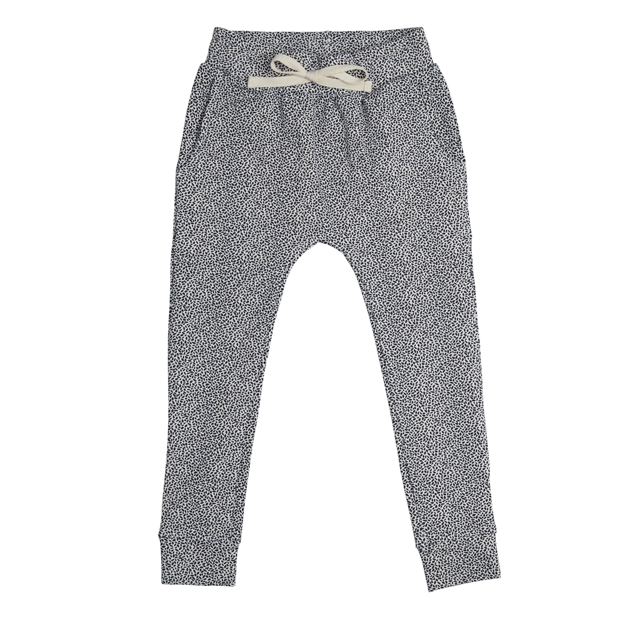Jogger Dotted Leaves - Midnight Blue-1