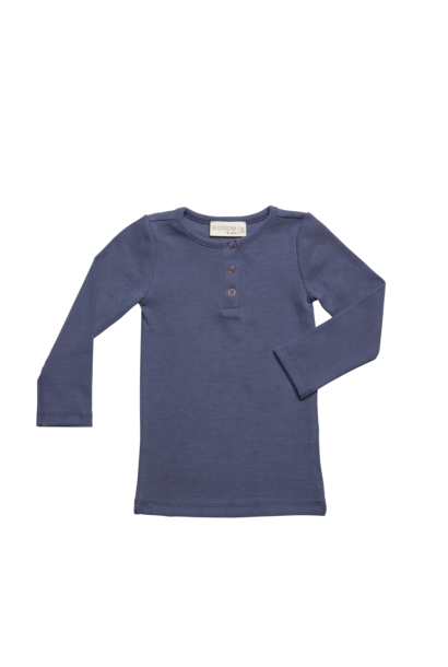 Rib long sleeve - Dusty Blue