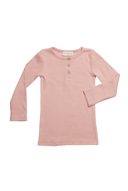 Rib long sleeve - Misty Rose