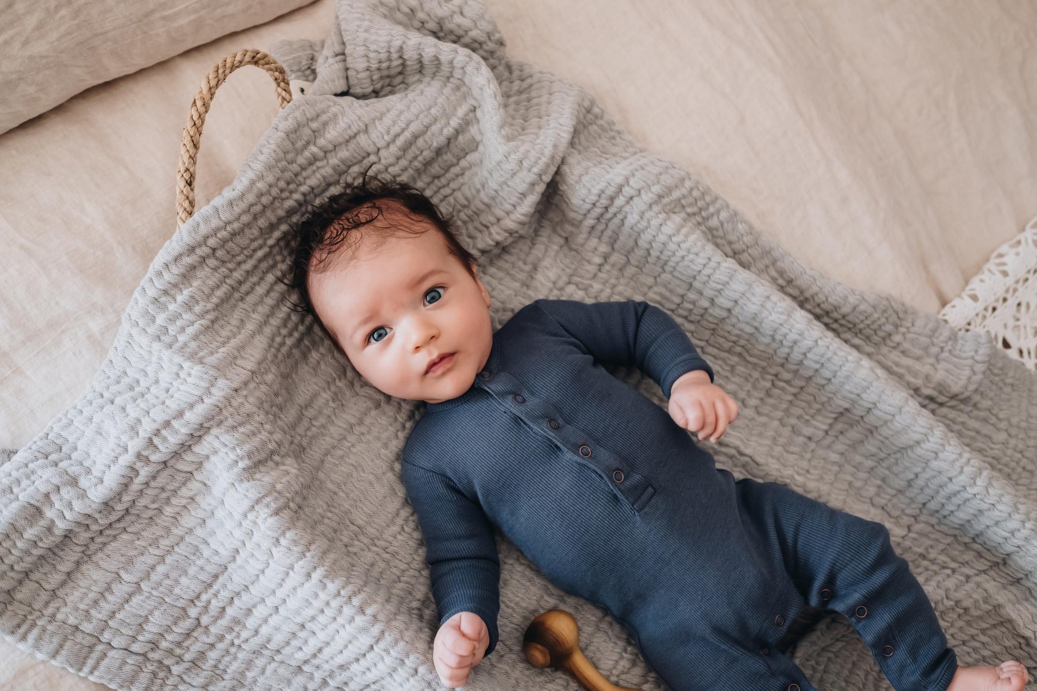 Baby jumpsuit - Dusty Blue-2