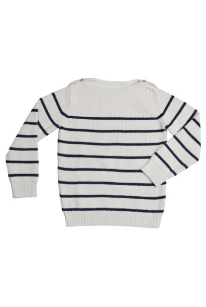 Knitted jumper stripes - Midnight Blue