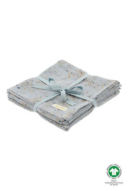 3-pack Muslin - Ocean Grey