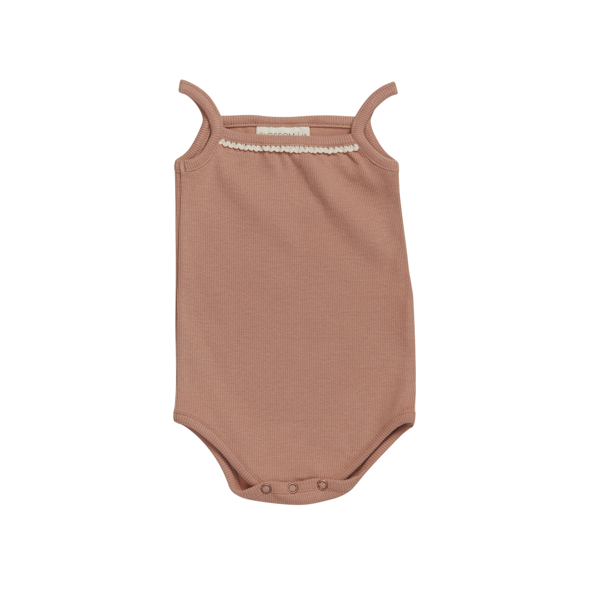 Body straps with lace soft rib - Toffee Blush-1