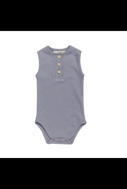 Body sleeveless soft rib - Blue Grey