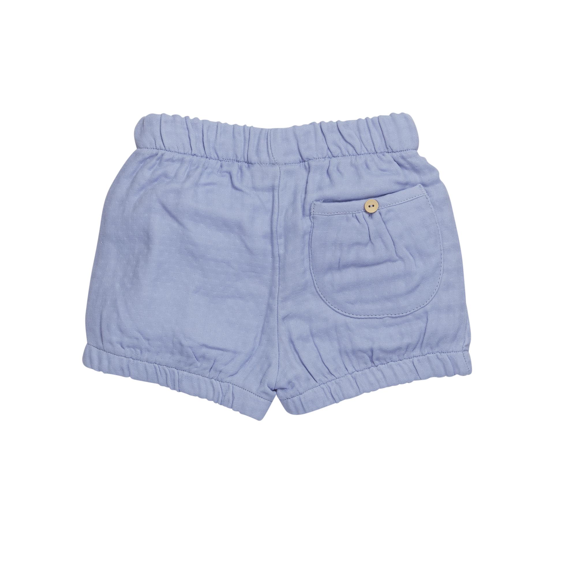 Shorts muslin - Lilac Blue-3