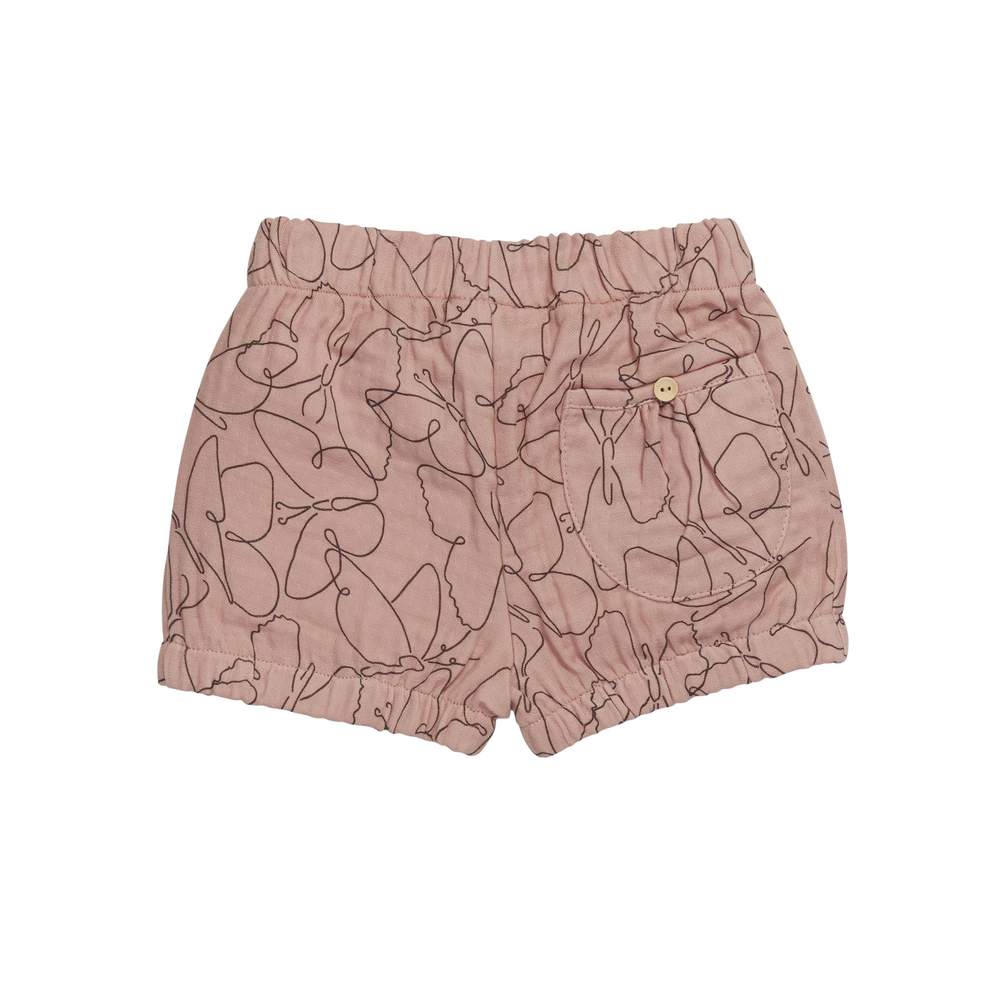 Shorts muslin Butterfly Dream - Powder-3