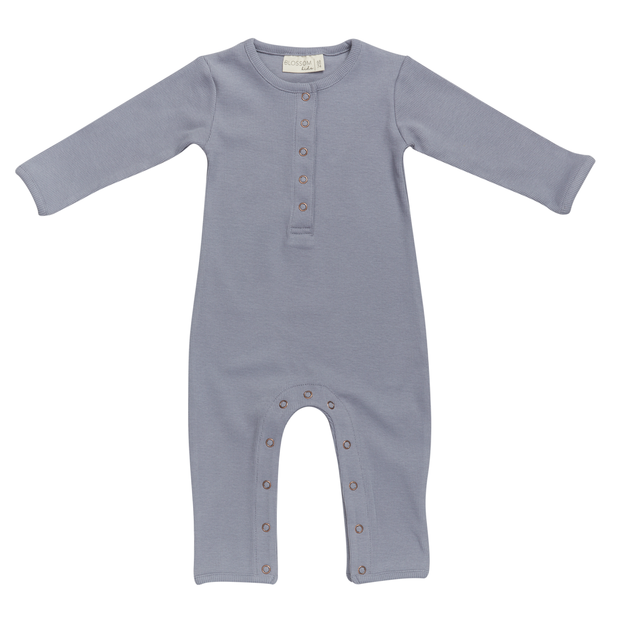 Baby jumpsuit - Blue Grey-1