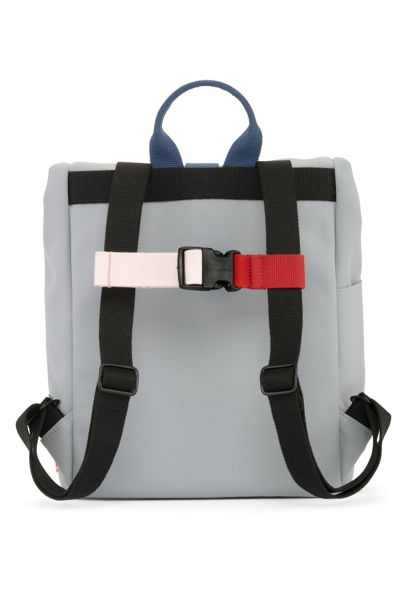 Mini Bag - Cloud grey / Ocean Blue-3