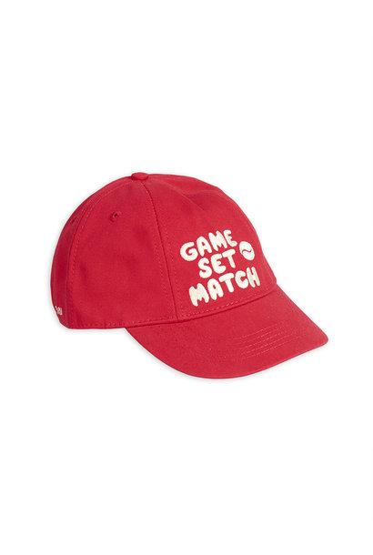 Game set match cap - Red
