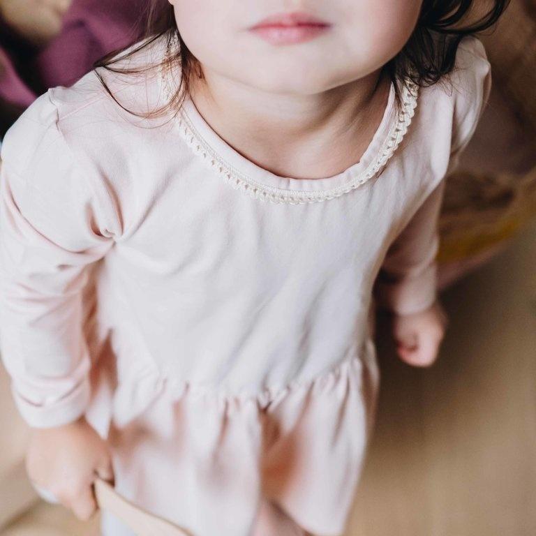 Dress with lace - Pale Blush-2