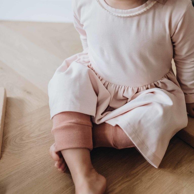 Dress with lace - Pale Blush-3