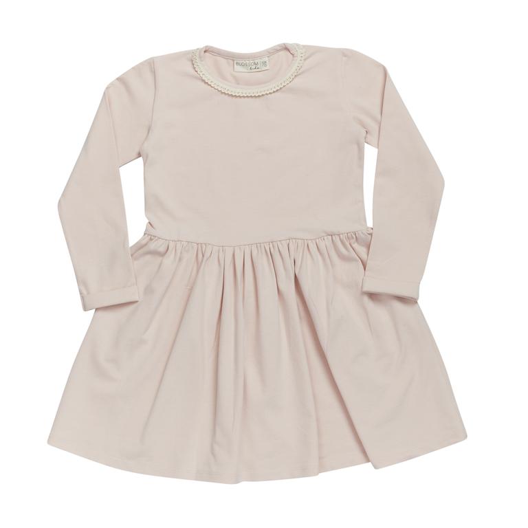 Dress with lace - Pale Blush-1