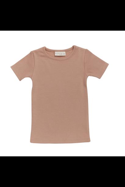 T-shirt s/sl soft rib - Toffee Blush